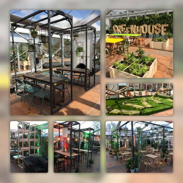 Event styling; The Greenhouse incl. Meubel en planten verhuur
